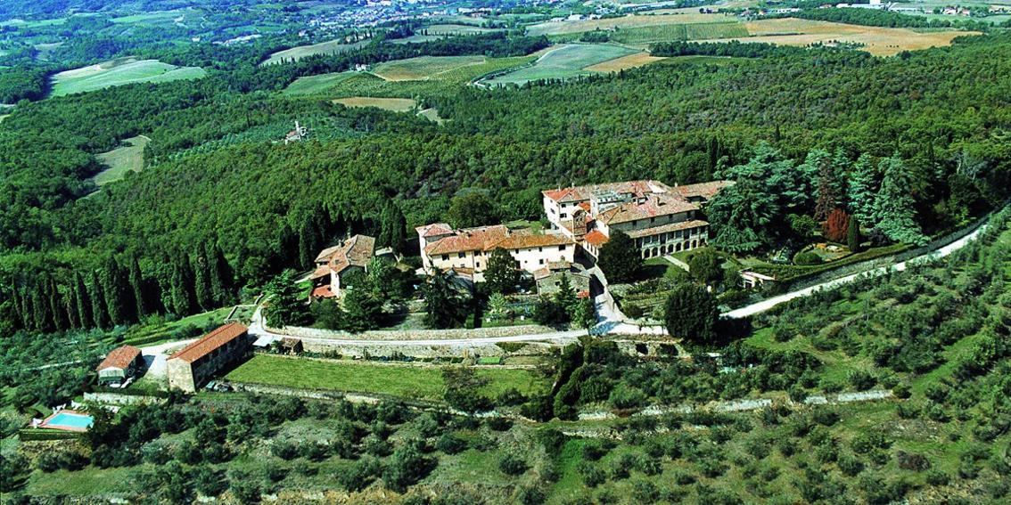 Veduta dell' agriturismo ad Arezzo - Castello di Montozzi